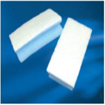 Reinigingspons Blauw/Wit met Handgreep