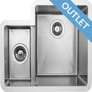 Edgesinks Double Sink PFRE 350 L Wasbak
