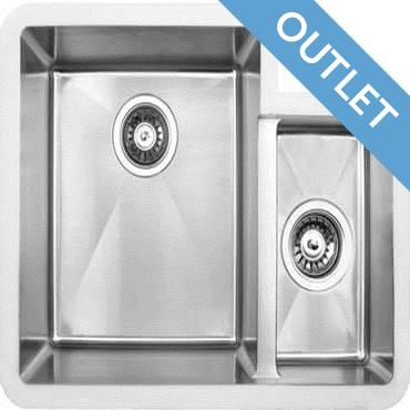 Edgesinks Double Sink PFRE 350 R Wasbak