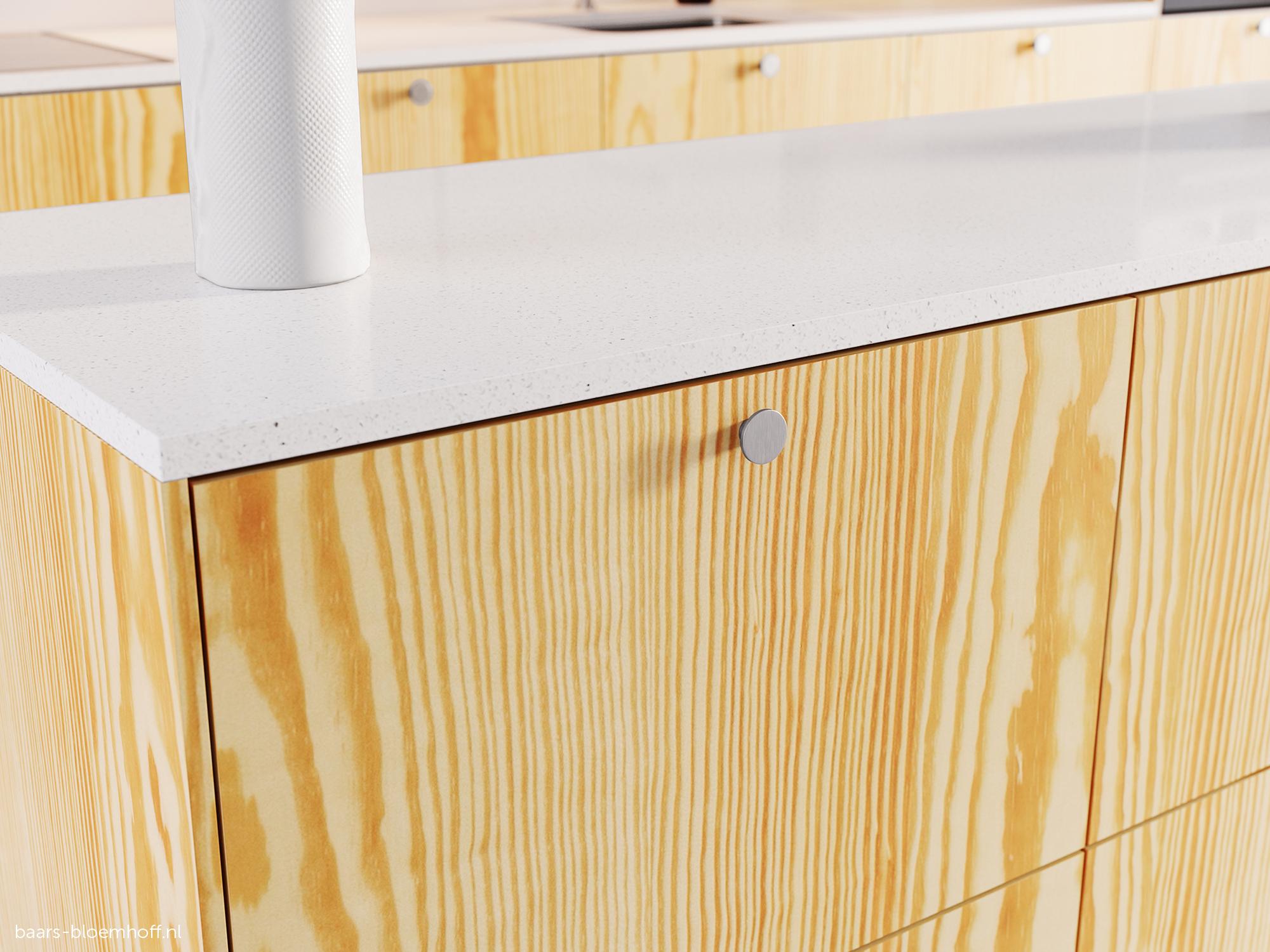 MDF Gefineerd Honey Pine 2-Zijdig Plain product photo