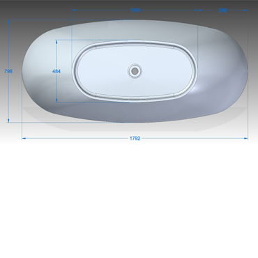 SOLIDTRENDS BAD CLEAR, WHITE COLOR product photo