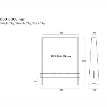 Decospan Preventiescherm blank MDF product photo